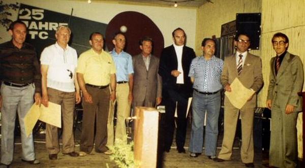 Die geehrten Gründungsmitglieder im Jahre 1978